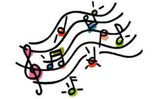 377 3778968 drawn music notes cartoon music clipart png download