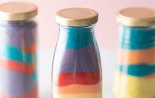 Colored Salt Jar Craft