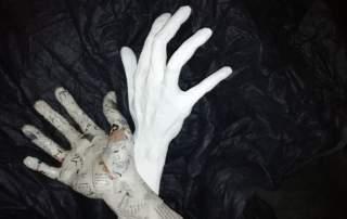 papie mache hand craft