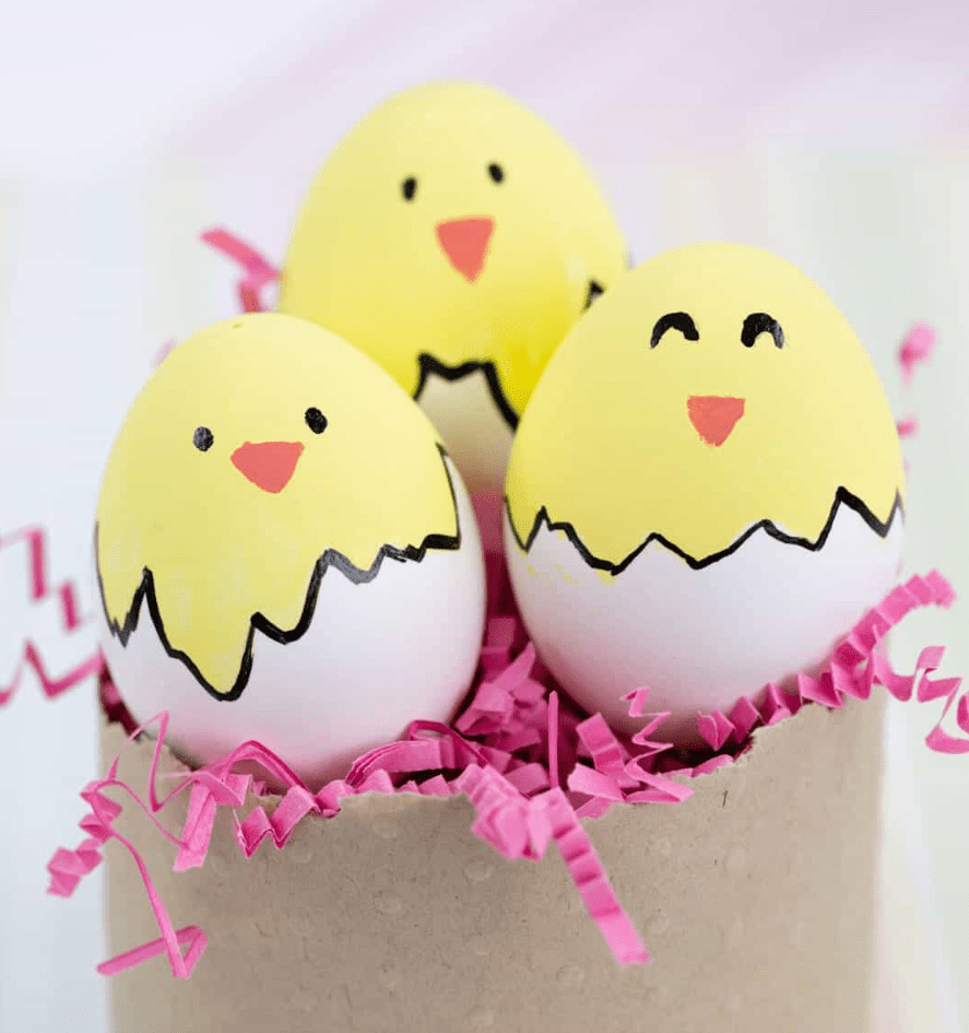 easter eggs with kids!