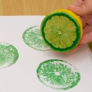 vegetable prints lemon