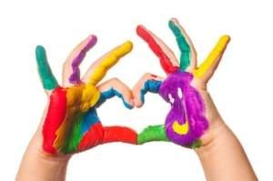 finger painting for kids 1